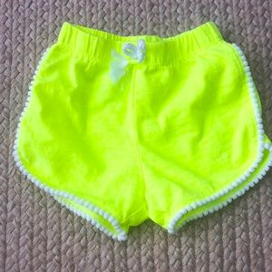 6-9 months neon yellow shorts